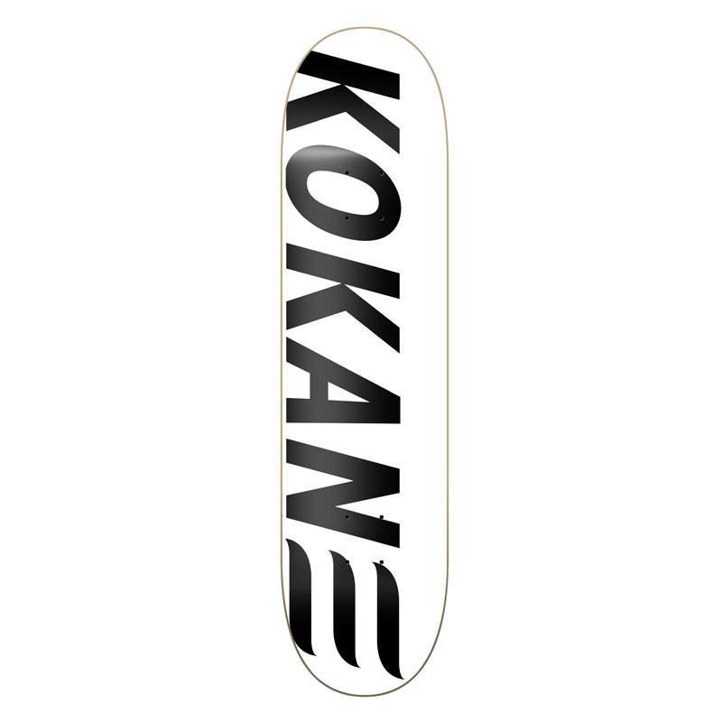 Kokane Skateboard Logo White